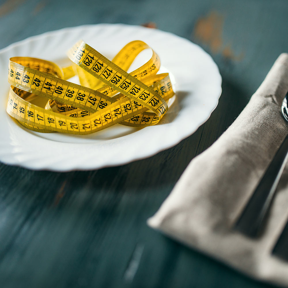 Plate With Measuring Tape - Eating Disorders