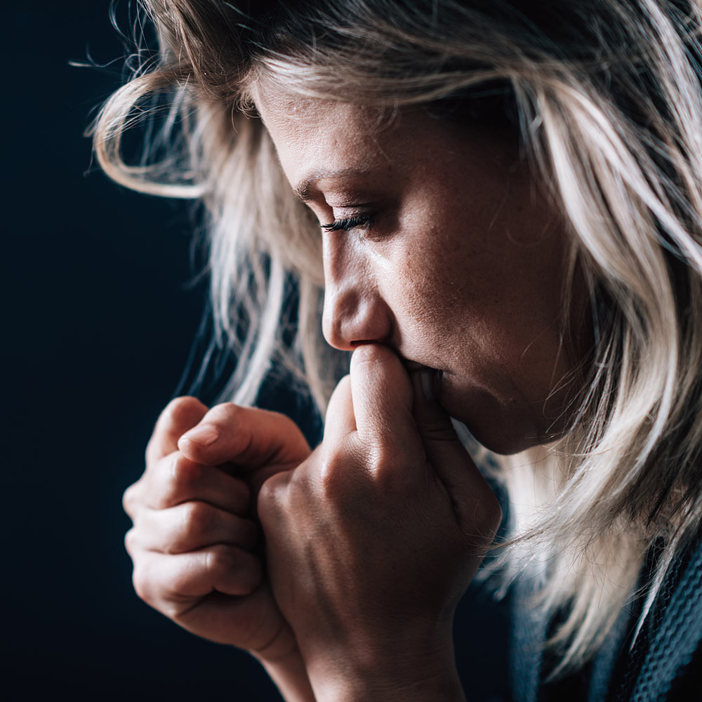 Portrait of a Troubled Woman - Life Pain